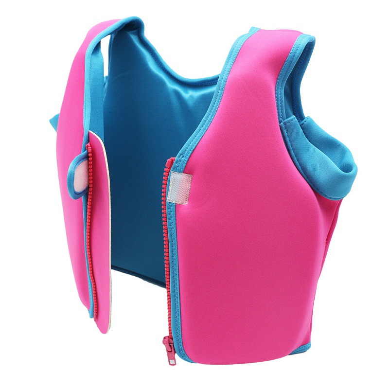 Kids Life Vest Swim Buoyancy Vest Solid Color Drifting Snorkeling Floating Suit Child Life Jacket Swimming Pool Accessories Q in Life Vest from Sports Entertainment
