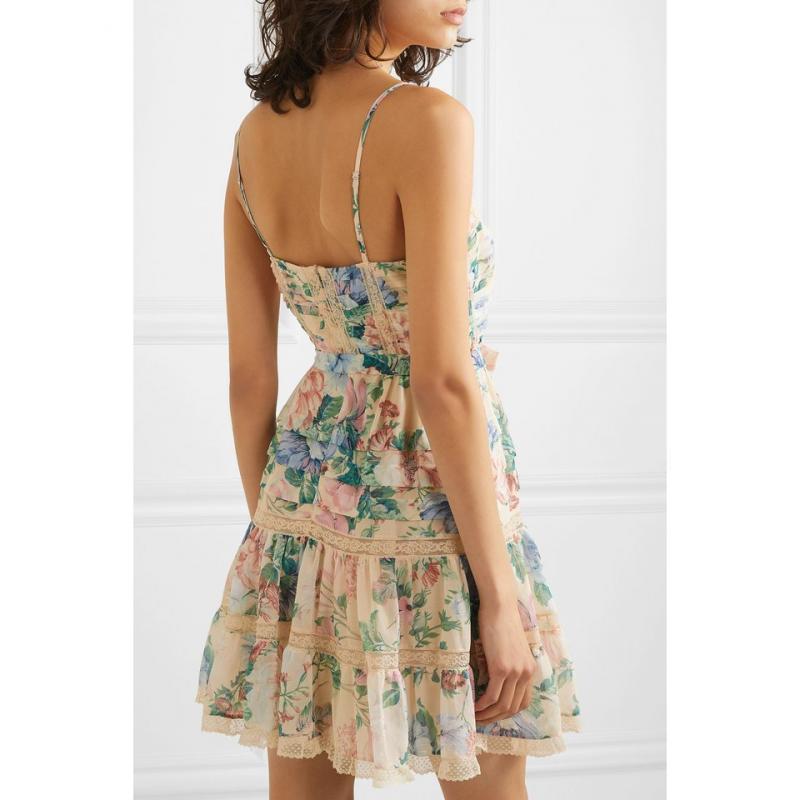 Hm-illusory summer dressLace edge 2019 nouvelle robe de plage nom vacances mer avec fée Air bourgeons couture vestd robe femmes robe - 2