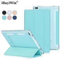 IBuyiWin Ultra Slim Folding Case For Lenovo Tab 4 8 TB 8504F 8504N Translucent Back Case