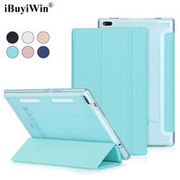 IBuyiWin Ultra Slim Folding Case For Lenovo Tab 4 8 TB 8504F 8504N Translucent Back Case