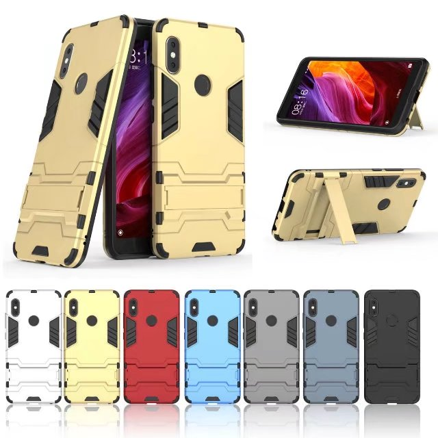 a729a378f3f With stand Hybrid case For Xiaomi Redmi Note 5 Pro Hard Silicone+PC Armor  protective back cover for xiaomi redmi note 5pro shell-in Fitted Cases from  ...