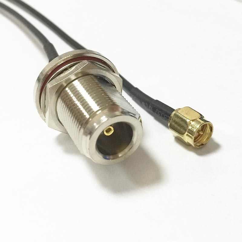 "Yeni Modem Koaksiyel Kablo SMA Erkek Tak Anahtarı N Dişi Jack somun Konektörü RG174 Kablo Pigtail 20 CM 8"" adaptör RF Jumper"