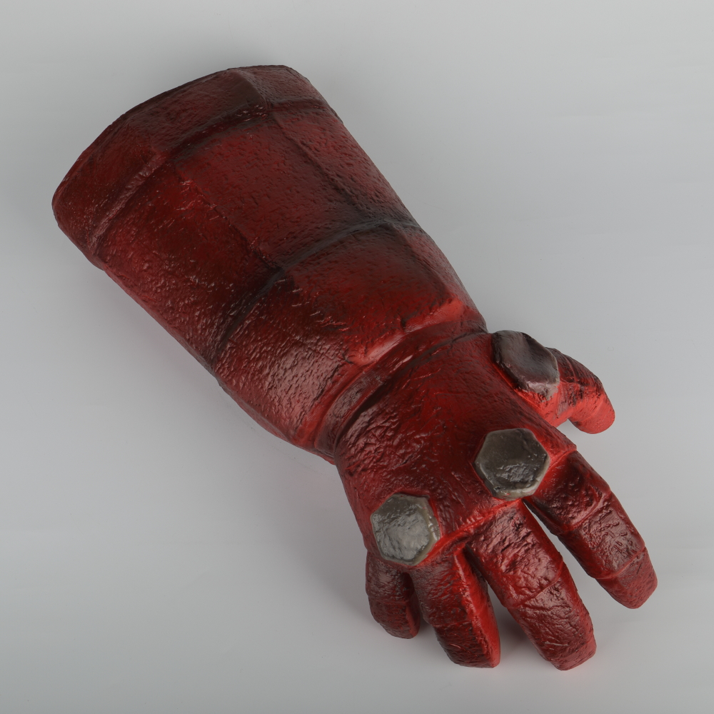 New Movie Hellboy Rise of the Blood Queen Glove Right Hand Cosplay Gloves Armor Latex Hand Gauntlet Party Halloween (1)