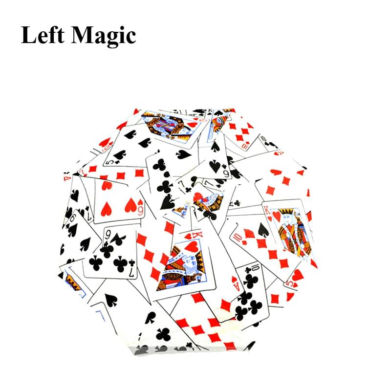 Medium Size Magic Umbrella Poker (40.5cm Length) Magic Tricks Poker Umbrella Magic Props Stage Accessory For Magician Use G8198