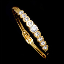 ZSHI Brand Hot Selling Women Tennis Bracelet Luxury Round Clear CZ Tennis Bracelets & Bangles for Elegant Party Jewelry