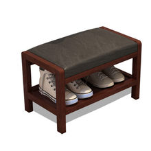 Solid wood Nordic shoes bench can sit storage simple modern shoes sofa stool door shoes storage stool nordic style simple foyer home padded cushion solid wood storage shoe bench shoes stool