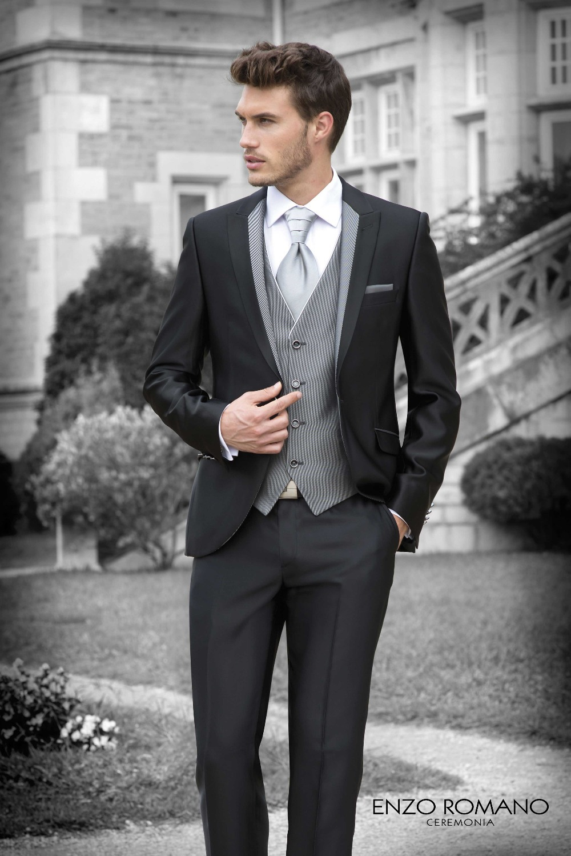 2018 de alta calidad negro traje de hombre de estilo occidental ...