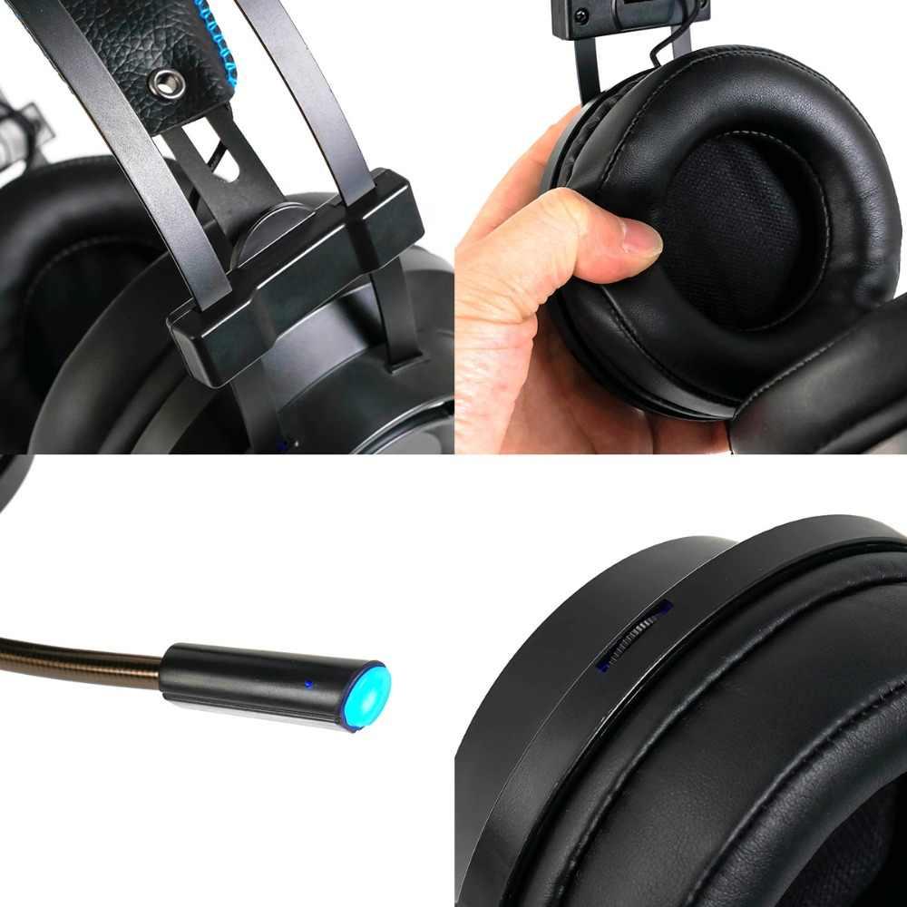 ZOP ゲーミングヘッドセットとマイク 7.1 サウンド重低音ゲームヘッドセット Pc ゲーマーのための PS4 Xbox one 電話