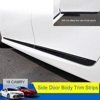 QHCP 4 шт. Нержавеющаясталь автомобиля Боковая дверь кузова отделкой Стикеры Авто тела потертости полоски стример крышка протектор для Toyota