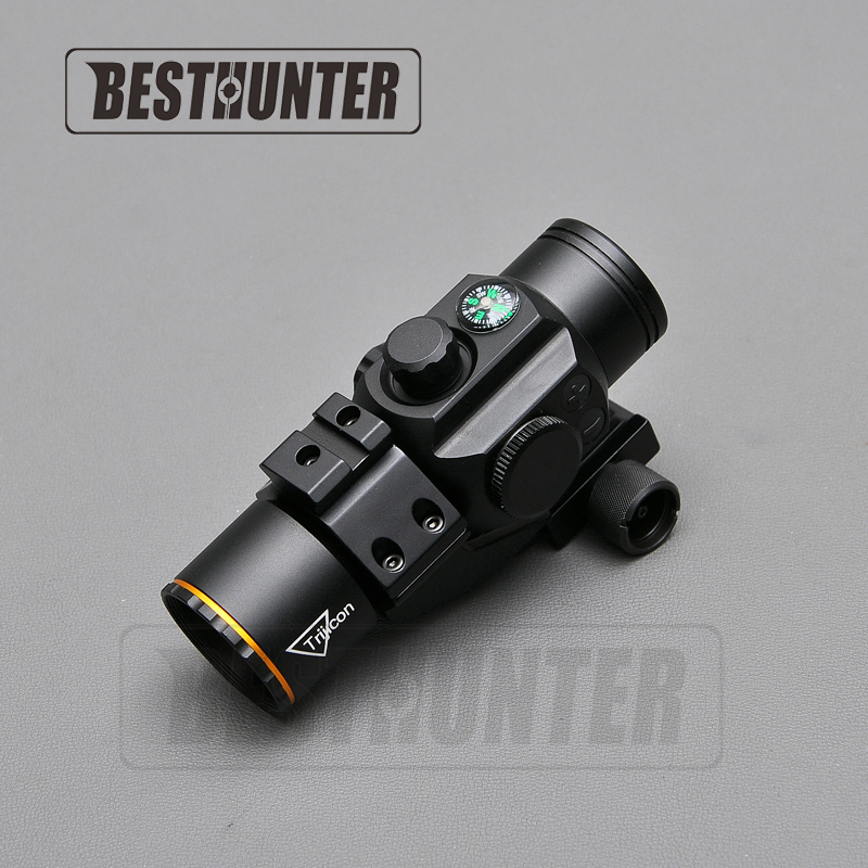 Trijicon 1X35 Hunting Red Dot Sight With Compass Tactical Optical Riflescope Shotgun Scope For Airsoft Optic Hunting hunting led rm red dot sight adjustable airsoft shotguns holographic scope with trijicon style mini mirror
