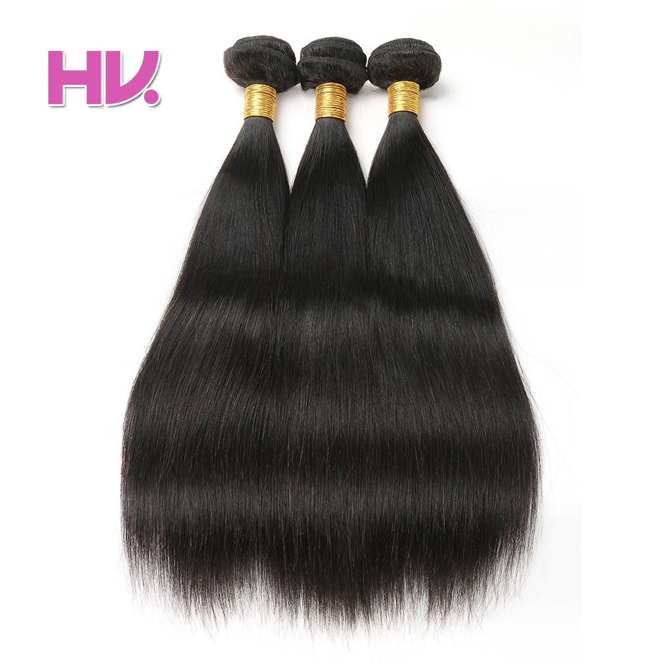 Hair Villa Products Indian Straight Hair weave 100% Human Hair Pieces 8-26 Inch Non Remy ...