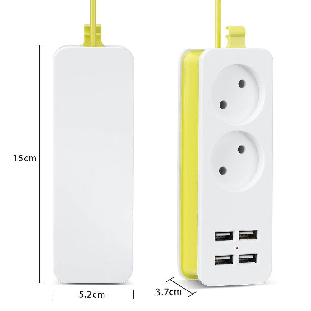 lowest price Rdxone EU plug Travel Power Strip Portable Extension Socket Outlet with 4 USB Wall Charger Smart Desktop Socket