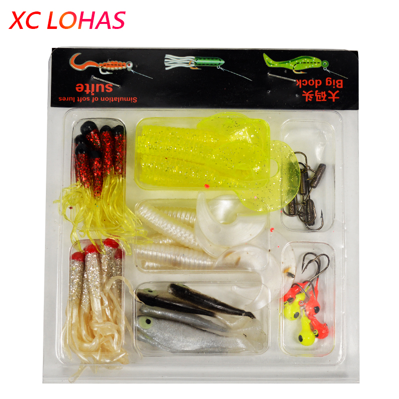 Colorful 35 Artificial Fishing Lures and 10 Lead Head Hooks Kit Soft Simulation Worm Baits Sea River Lake Fishing Tackle Set phytosolba кондиционер восстановление фитобом 150 мл