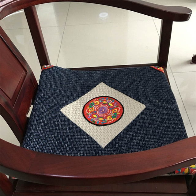 Customized Seat Cushion Thick Chair Cushions National Wind Classical