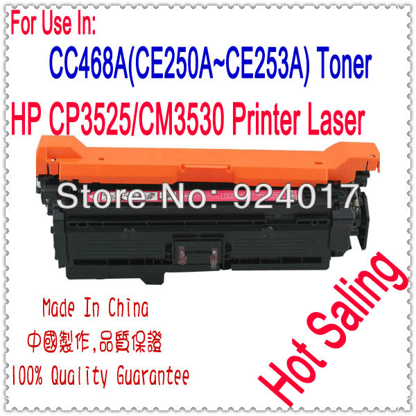 Toner For HP Laserjet CP3525 CM3530 Printer,CC648A CE250A CE251A CE252A CE253A Toner For HP Cartridge 3525 3530 Printer Laser
