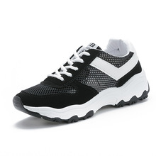 Outdoor Flat Casual Sneakers Women Lightweight Running Shoes Breathable Hollow Comfortable Black and White Sport for