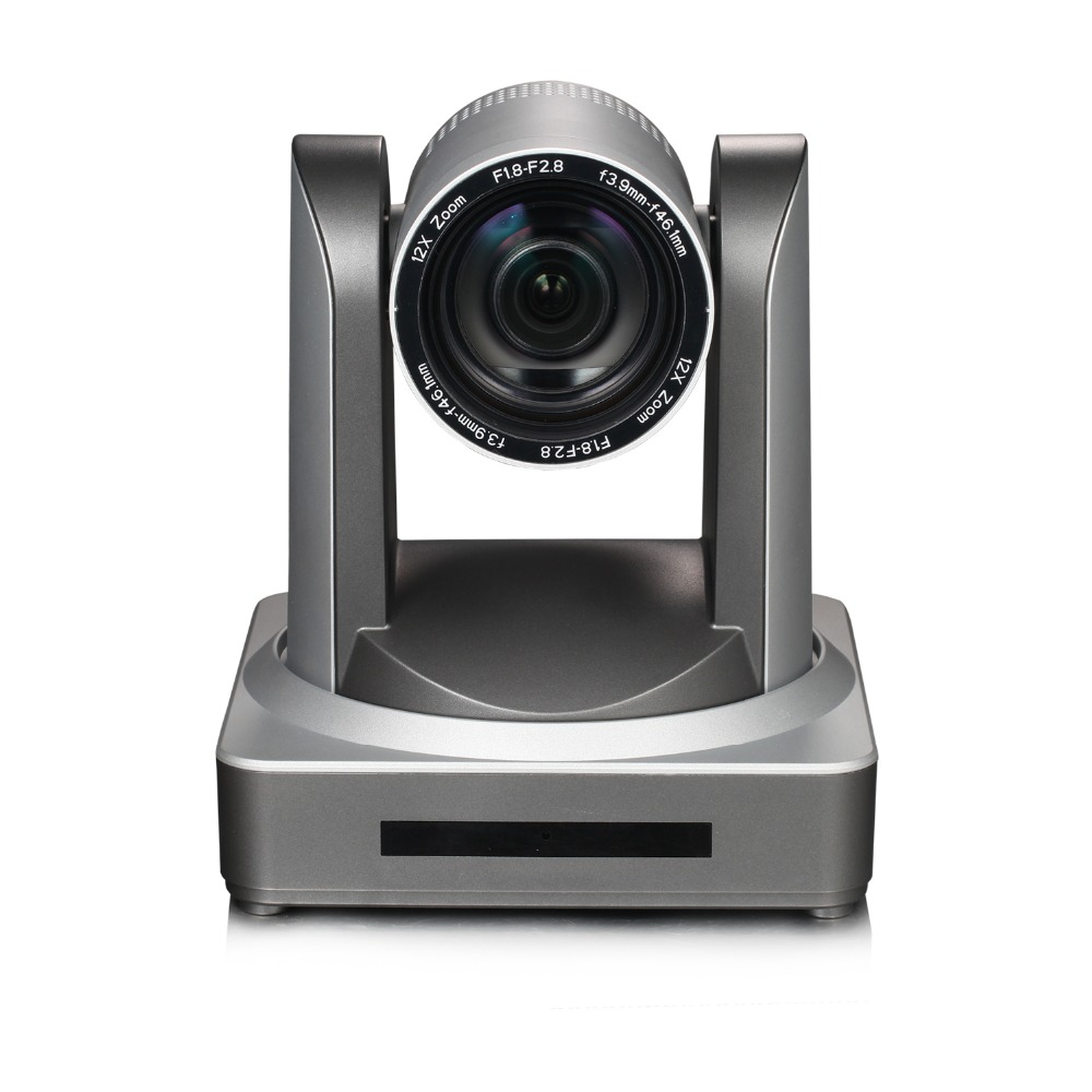 2MP Indoor 1080P60Fps Wireless Video Audio IP PTZ Wifi Conference Camera HDMI 3G-SDI Wide Angle 12X Optical Zoom Live Streaming image