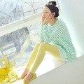 Modal malha Leggings para gestantes cintura elástica da mola calças para grávidas maternidade roupa nova