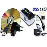 CMS 50ew Здоровье CE FDA Bluetooth Беспроводной Программы для компьютера палец Пульсоксиметр Кислорода SpO2