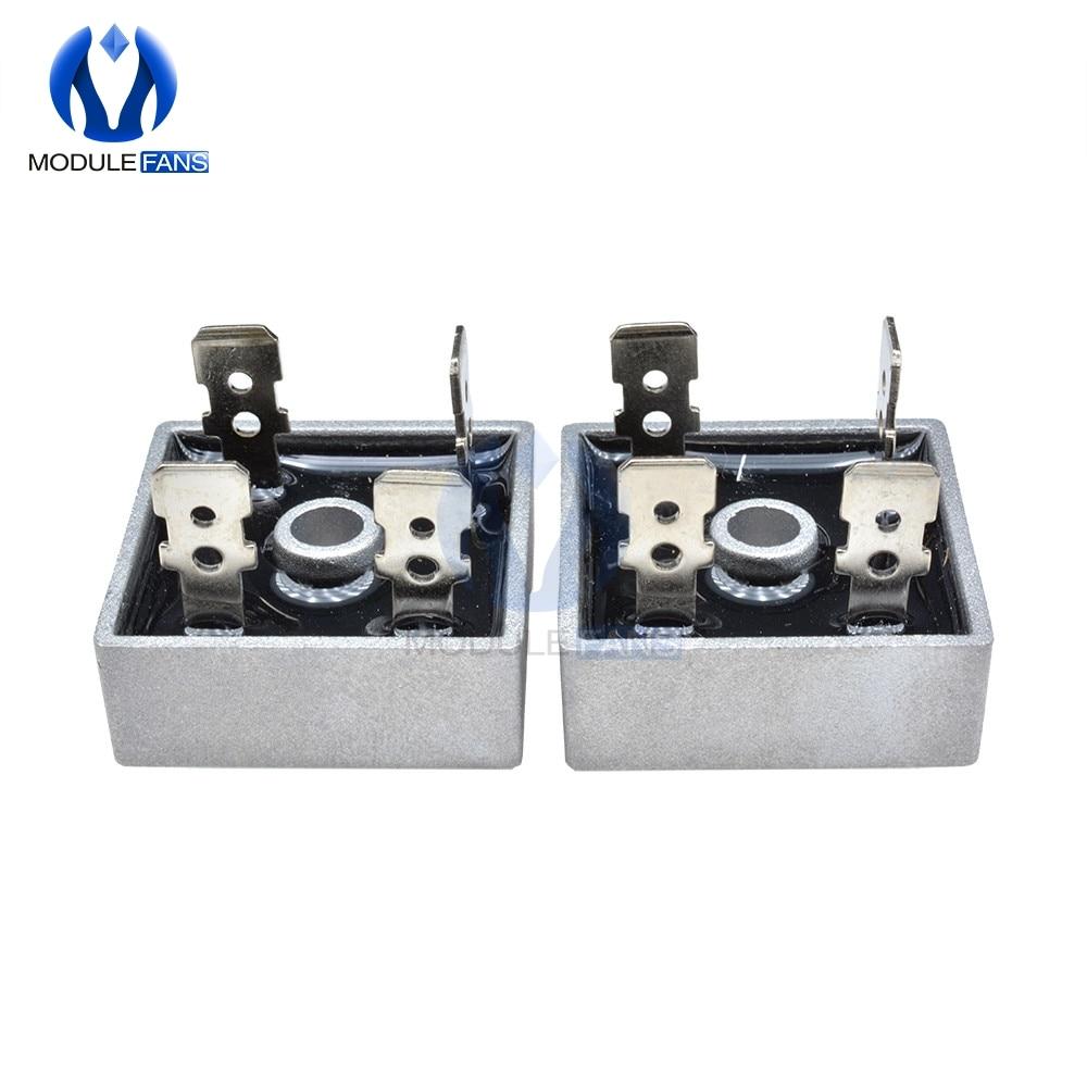 KBPC1010 1000V 10A Single-Phase Bridge Rectifier Half-Wave Gray 5Pcs