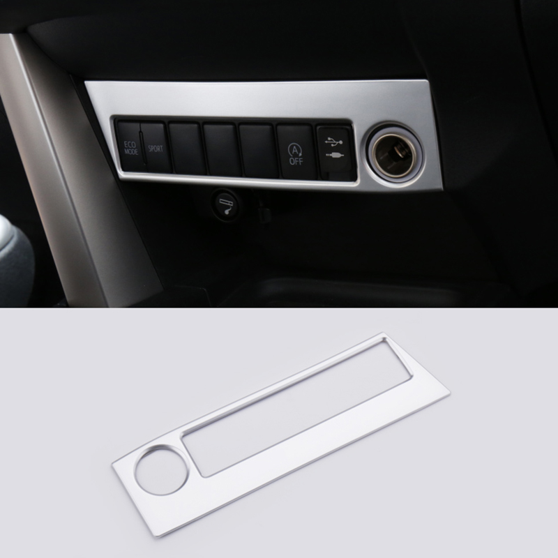 For Toyota RAV4 2016 2017 Cigarette lighter cover decoration chromium styling ABS interior mouldings products Accessories