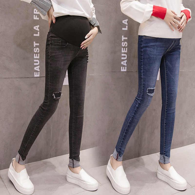f9f11621a81b Джинсы для беременных Для женщин Беременность теплые зимние джинсы штаны  зимняя Одежда для беременных кормящих опоры