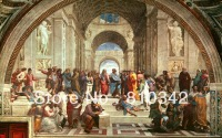 Canvas Prints ( School of Athens) oil painting wall picture for sale 40X48'