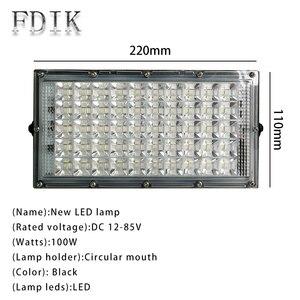 Image 2 - Светодиодный прожектор IP66, уличный водонепроницаемый, 50 Вт, 12 85 в