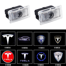 2pcs/lot Welcome Logo Projector Light for Tesla Model 3 MODEL S X LED Courtesy Interior Car Lighting Accessories