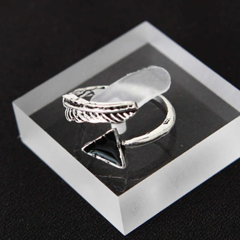 ホットヴィンテージビーチ指輪セット自然ブルー石 7 ピース/セット指女性の男性のジュエリートライアングル中空愛のテールリング