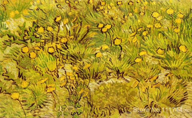 Hand painted art on canvas a field of yellow flowers vincent van hand painted art on canvas a field of yellow flowers vincent van gogh painting for sale mightylinksfo