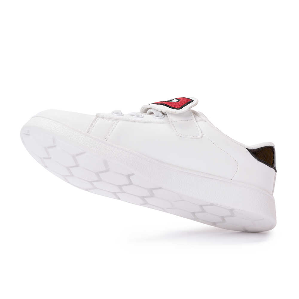 Balabala ילדי אופנה סניקרס עם רקום וו & לולאת אטב פעוט ילדים אנטי להחליק סניקרס בנות בני נעלי ריצה