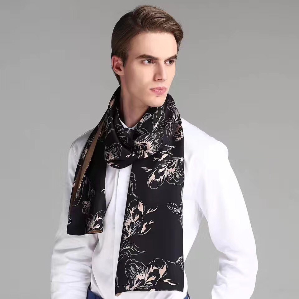 Male Scarves Gentleman-Scarf Silk Warm Wholesale Fashion Gift Men for Love Good-Evaluation