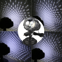 Snowfall Laser Snow Light Snowflake Waterproof Outdoor Projector Moving Laser Christmas Lamp Projector Garden 3.6W @