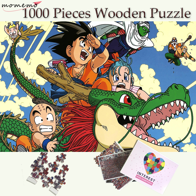 MOMEMO Dragon Ball Puzzle 1000 Pieces Wooden Jigsaw Puzzles For Adults Cartoon Pattern Wooden Puzzle Games Kids Educational Toys