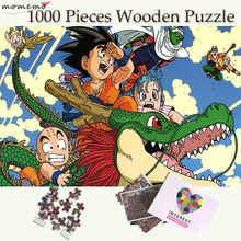 MOMEMO Dragon Ball Puzzle 1000 Pieces Wooden Jigsaw Puzzles for Adults Cartoon Pattern Games Kids Educational Toys