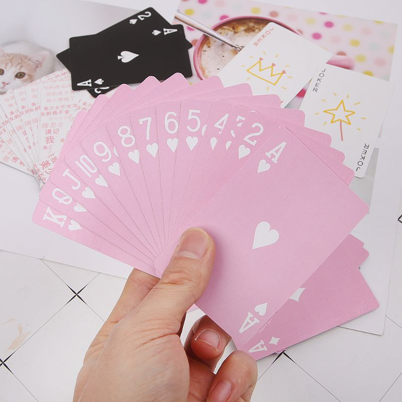 Creative Cartoon Anime Playing Cards Board Game Party Gathering Pink Poker Card