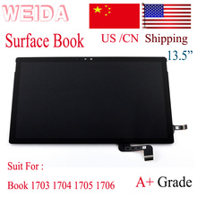 WEIDA LCD Replacment For 13.5 Microsoft Surface Book 1703 1704 1705 1706 Display Touch Screen Assembly Replace 1st Gen