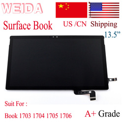 WEIDA LCD Replacment For 13.5 Microsoft Surface Book 1703 1704 1705 1706 LCD Display Touch Screen Assembly Replace Book 1st Gen