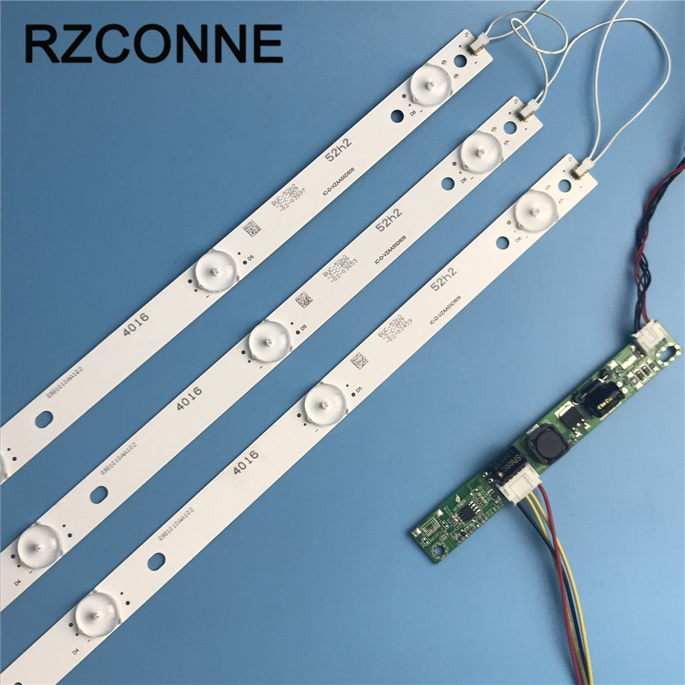 1set  575mm 6leds 3v LED Backlight Lamps Strip Kit Board W/ Optical Lens Fliter For 31.5 32 Inch LCD LED TV Billboard