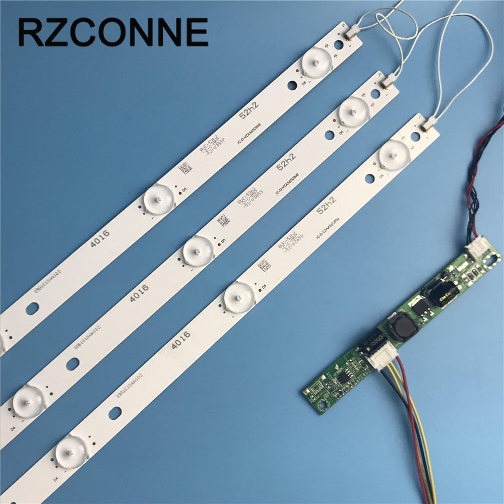 1set  575mm 6leds 3v LED Backlight Lamps Strip Kit Board W/ Optical Lens Fliter For 31.5 32 Inch LCD LED TV Billboard