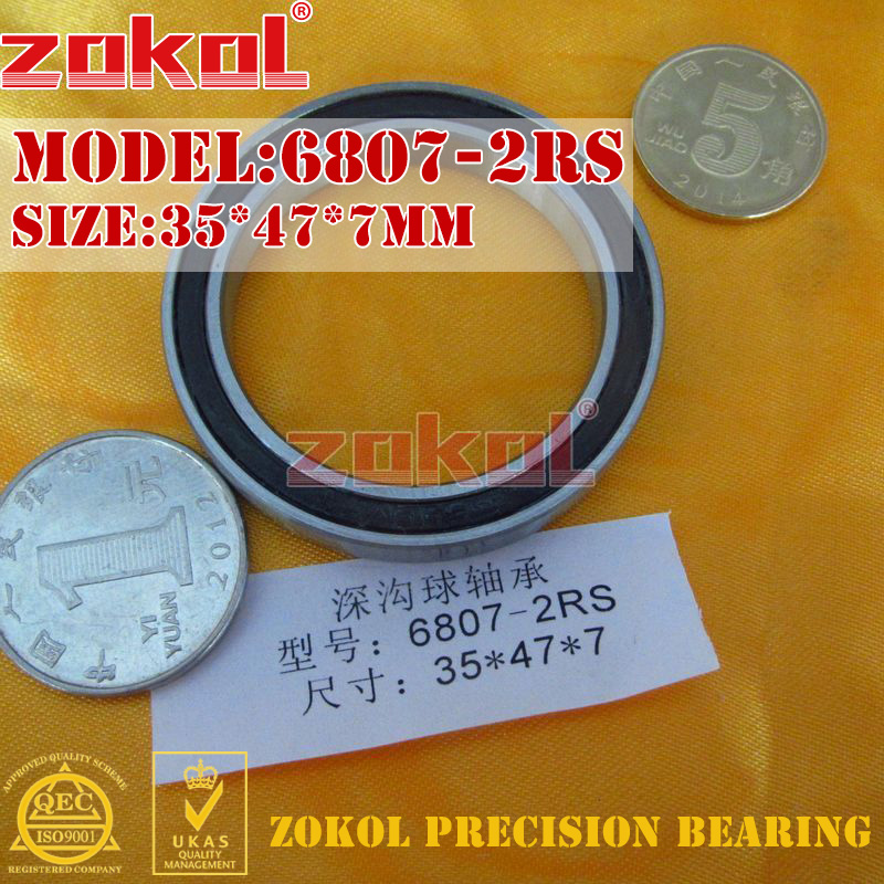 ZOKOL 6807 RS Bearing 6807 2RS ZZ 6807ZZ 6807-2RS Deep Groove Ball Bearing 35*47*7mm