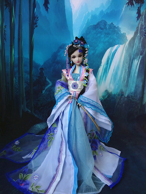 "12"" Chinese Princess Doll Collectible BJD Girl Dolls With Flexible Joints Body / 3D Reastic Eyes Souvenir Valentine's Day Gifts"
