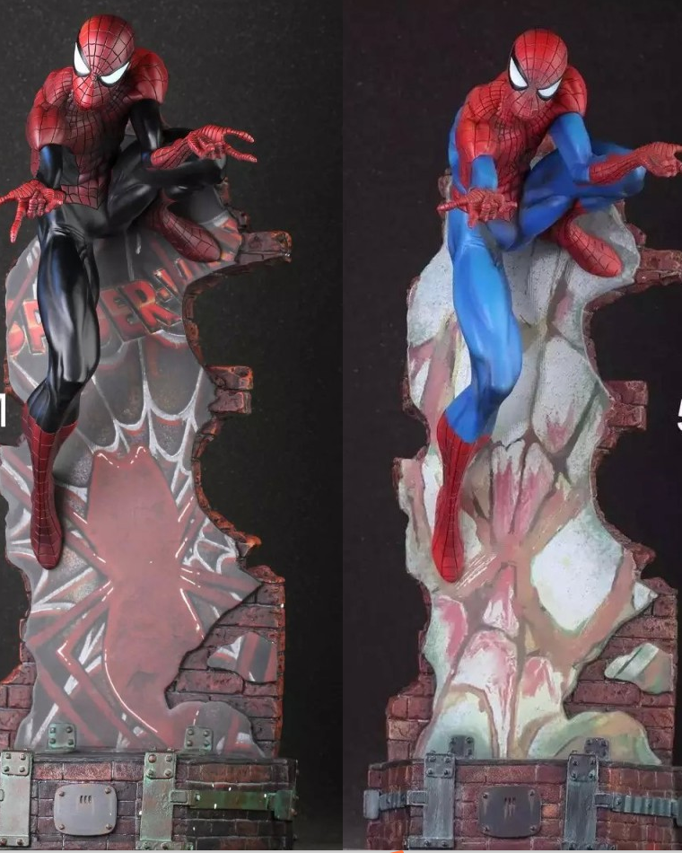 amazing toys Marvel Crazy Toys Spiderman The Amazing Spider-man PVC Action Figure Collectible Model Toy 2 Styles 18 KT1932