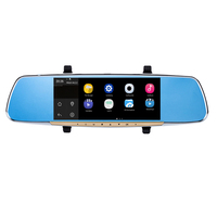 ENKLOV 7 Touch Screen Car Rearview Mirror Monitor With GPS DVR FM Transmitter Android 4 4
