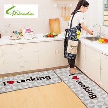 Welcome Floor Mats I Love Cooking Printed Kitchen Carpets House Doormats for Living Room Anti-Slip Absorbent Tapete Rug(China)