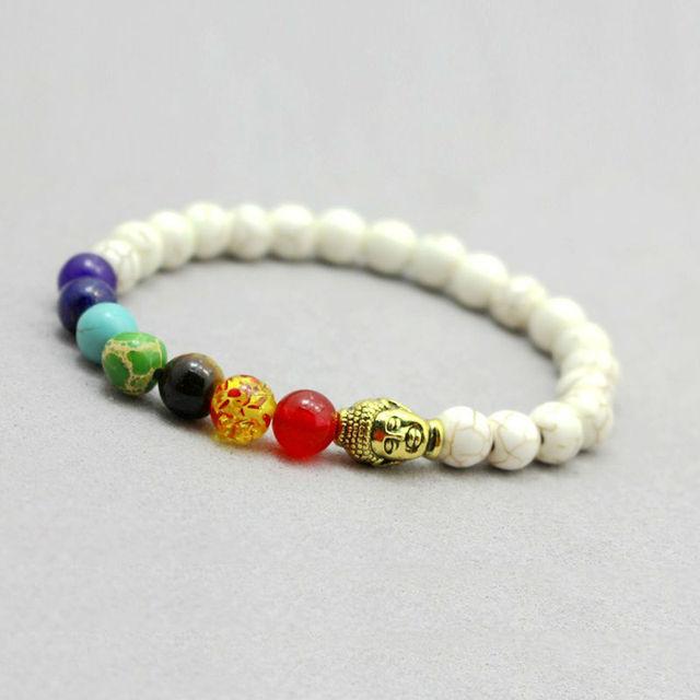 7 Chakra Healing Lava Bracelet1
