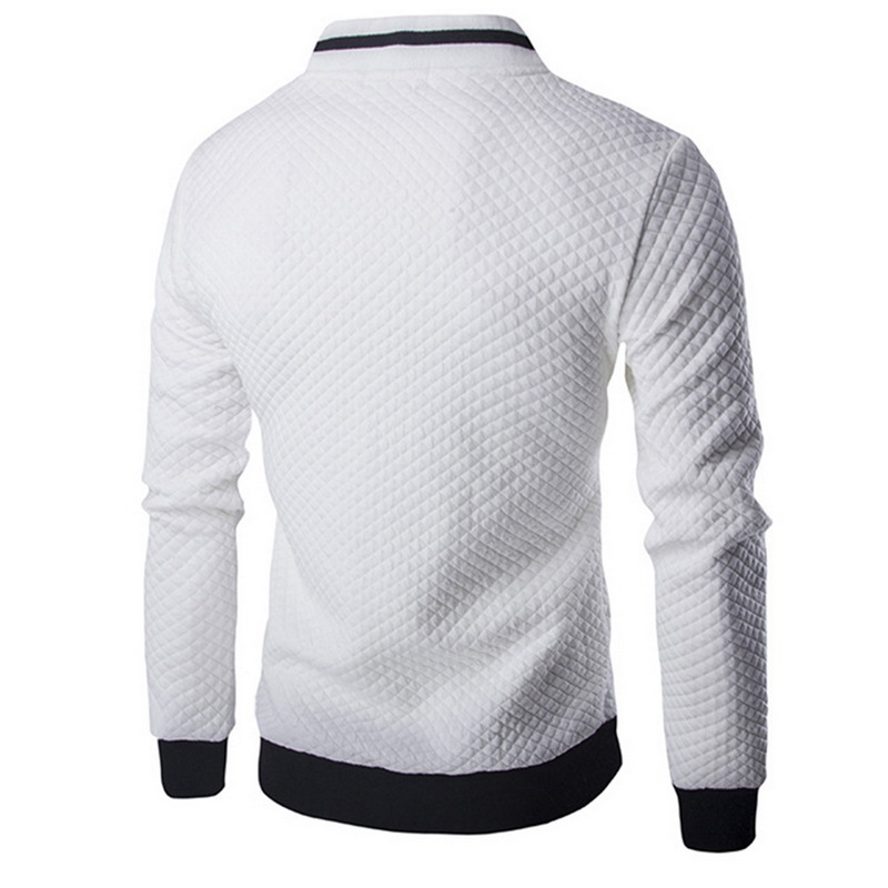 HTB1aTQsJHuWBuNjSszgq6z8jVXal Laamei Men's Veste Homme   Argyle Zipper Jacket Casual Jacket 2019 Autumn New Trend White Fashion Men's Jackets Clothes