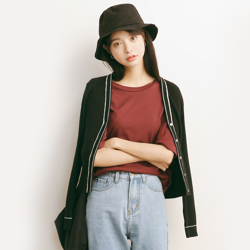 spring cardigan female sweater short design small sweater long-sleeve slim outerwear A685