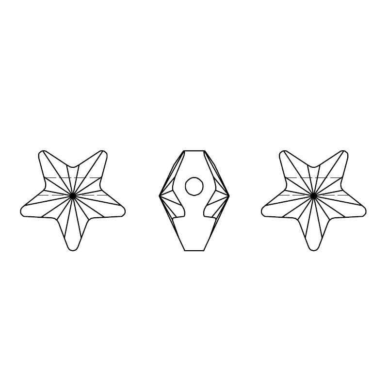 """(1 piece) 8 מ""""מ 12 מ""""מ 5714 כוכב חרוז 100% מקורי קריסטל סברובסקי ריינסטון תוצרת אוסטריה עבור DIY תכשיטי ביצוע"""